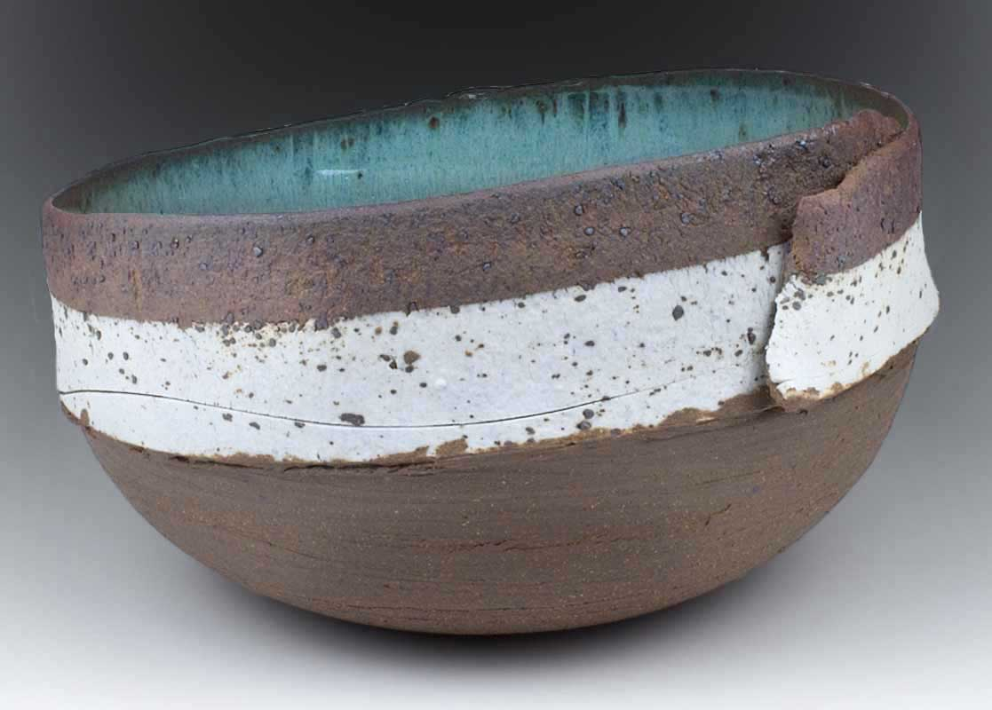 Ceramic Stoneware Wrapped Bowl